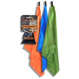 Travelsafe Microfiber Clip Towel