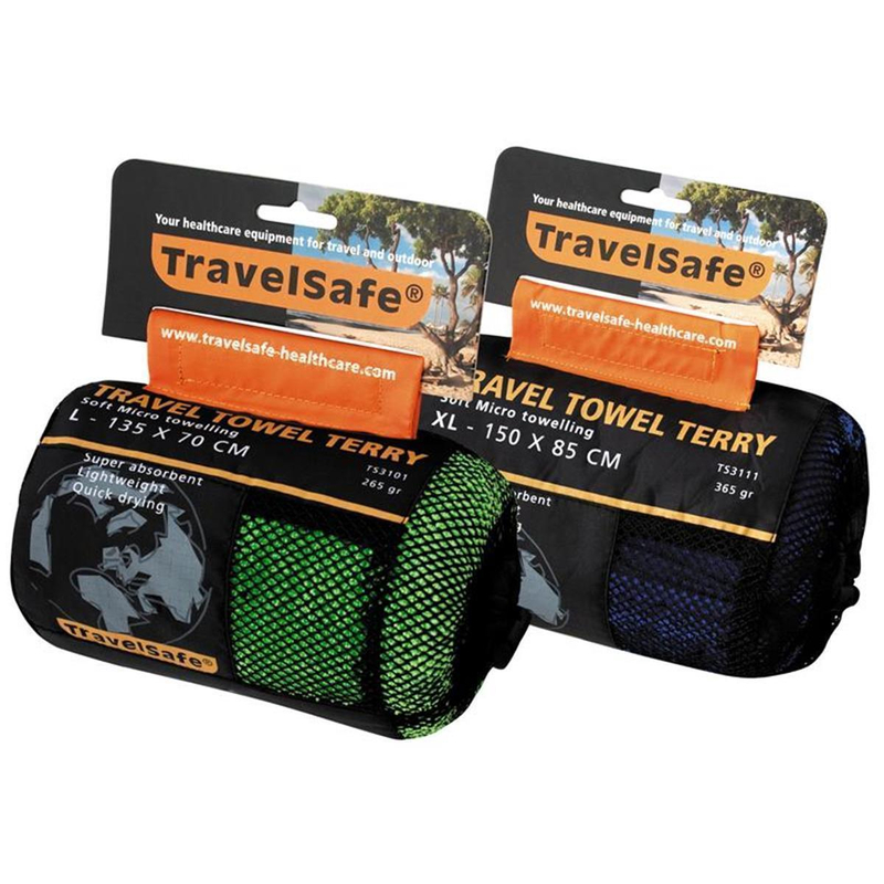 Travelsafe Microfiber Terry Towel L blau | 8712318039451