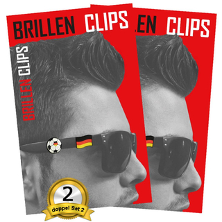 doppel Set Fan Clips Brillen